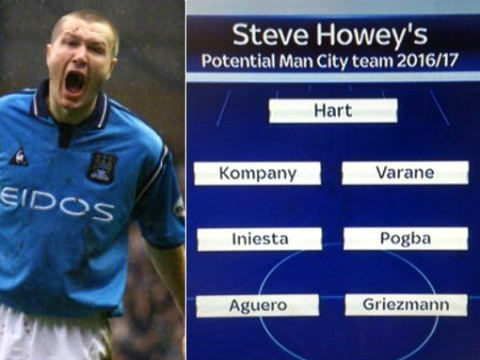 Steve Howey's predicted Manchester City team for next season is crazy