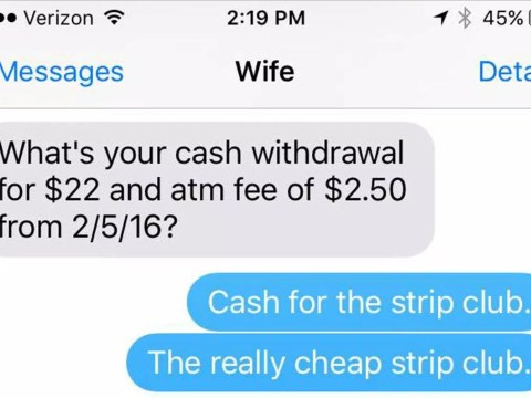Wife questions husband on money, he answers in worst way possible
