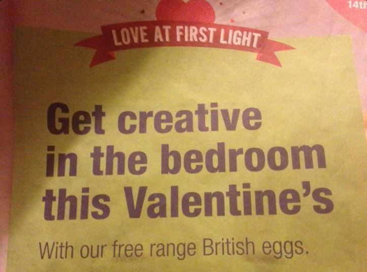 No one knows what the Co-op is insinuating with this Valentine's Day serving suggestion