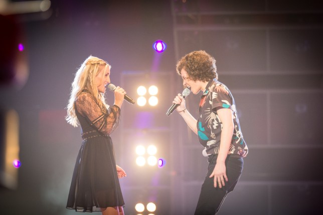 WARNING: Embargoed for publication until 00:00:01 on 01/03/2016 - Programme Name: The Voice - TX: 05/03/2016 - Episode: The Voice - Episode 9 (No. 9) - Picture Shows: THE VOICE - EPISODE 9 Colleen Gormley, Tom Rickels - (C) Wall To Wall - Photographer: GUY LEVY