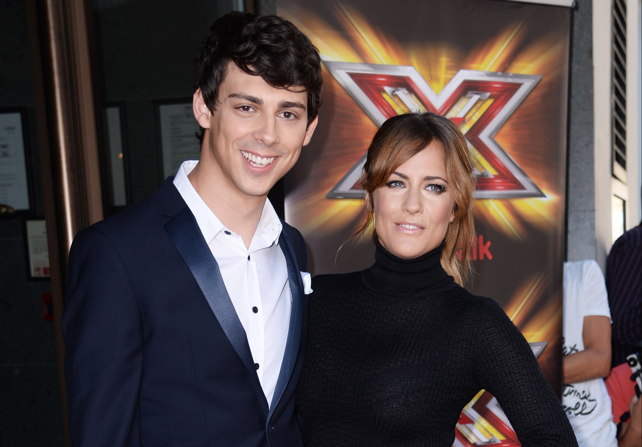 LONDON, ENGLAND - AUGUST 29: Caroline Flack and Matt Richardson attend The X Factor press launch at The Mayfair Hotel on August 29, 2013 in London, England. (Photo by Dave J Hogan/Getty Images)