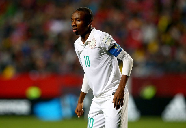 VINA DEL MAR, CHILE - OCTOBER 20: Kelechi Nwakali of Nigeria looks on during the FIFA U-17 Men's World Cup 2015 group A match between Chile and Nigeria at Estadio Sausalito on October 20, 2015 in Vina del Mar, Chile. (Photo by Martin Rose - FIFA/FIFA via Getty Images)