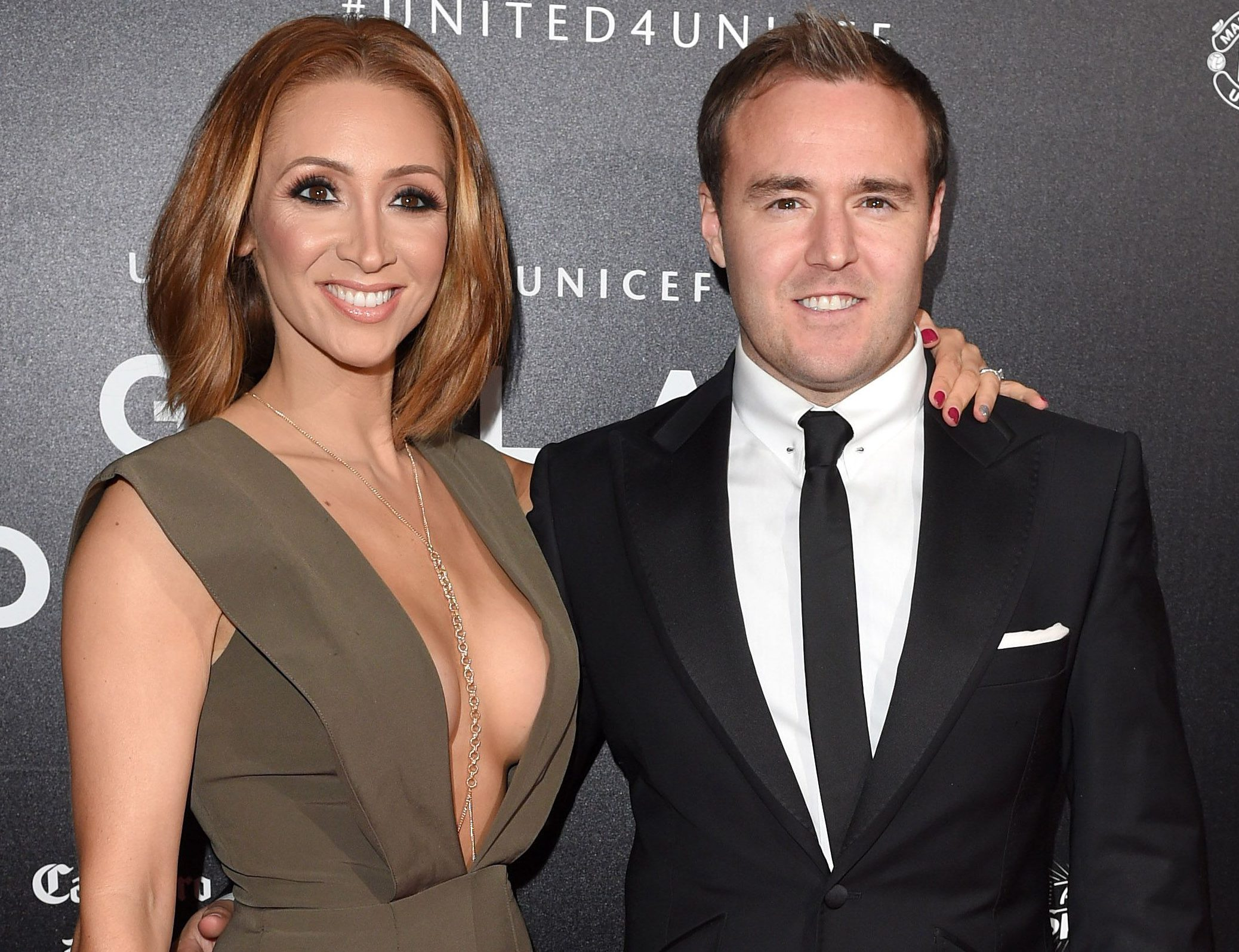 MANCHESTER, ENGLAND - NOVEMBER 29: Lucy-Jo Hudson and Alan Halsall attend the United for UNICEF Gala Dinner at Old Trafford on November 29, 2015 in Manchester, England. (Photo by Karwai Tang/WireImage)