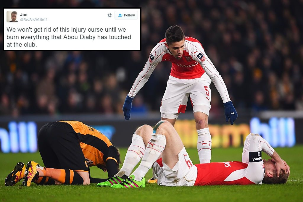Arsenal injury curse strikes again after Per Mertesacker, Gabriel and Aaron Ramsey are forced off v Hull