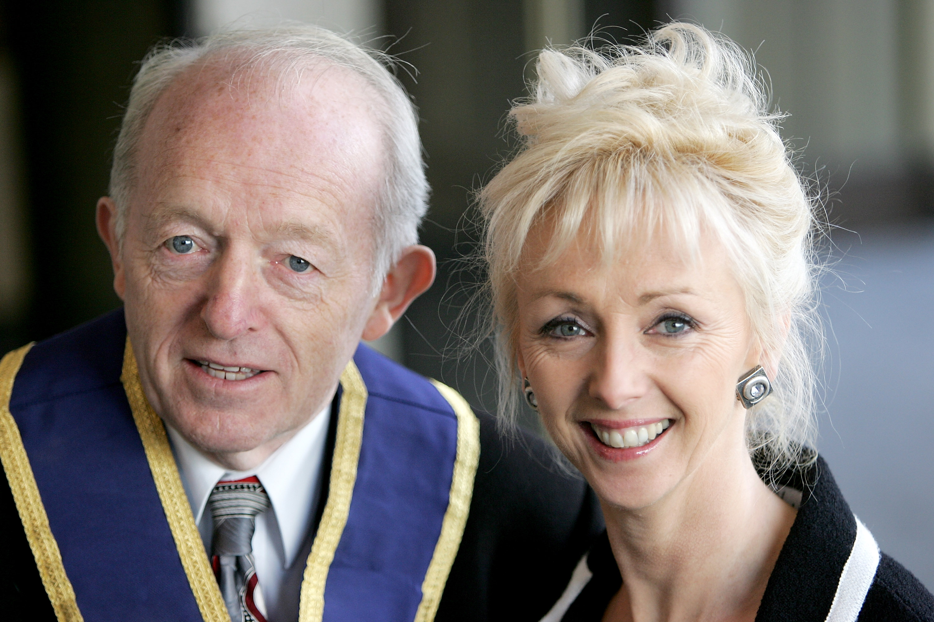 """LONDON - FEBRUARY 18: Paul Daniels and Debbie McGee arrives at the """"Norman At Ninety"""" Tribute Luncheon at the Royal Lancaster Hotel on February 18, 2005 in London. Members of showbiz fraternity and charity The Grand Order Of Water Rats and other celebrity friends help celebrate Wisdom's 90 birthday, which was February 4. (Photo by MJ Kim/Getty Images)"""