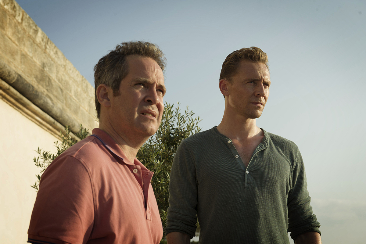WARNING: Embargoed for publication until 00:00:01 on 01/03/2016 - Programme Name: The Night Manager - TX: 06/03/2016 - Episode: The Night Manager (No. Ep 3) - Picture Shows: Corkoran (TOM HOLLANDER), Jonathan Pine (TOM HIDDLESTON) - (C) The Ink Factory - Photographer: Des Willie