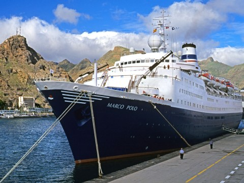Woman rescued after trying to swim to cruise ship that left without her