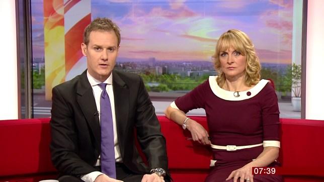 BBC Breaksfast with Dan Walker ( left ) Tue 15th