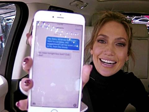 James Corden texted Leonardo DiCaprio on J-Lo's phone during Carpool Karaoke – and got a response