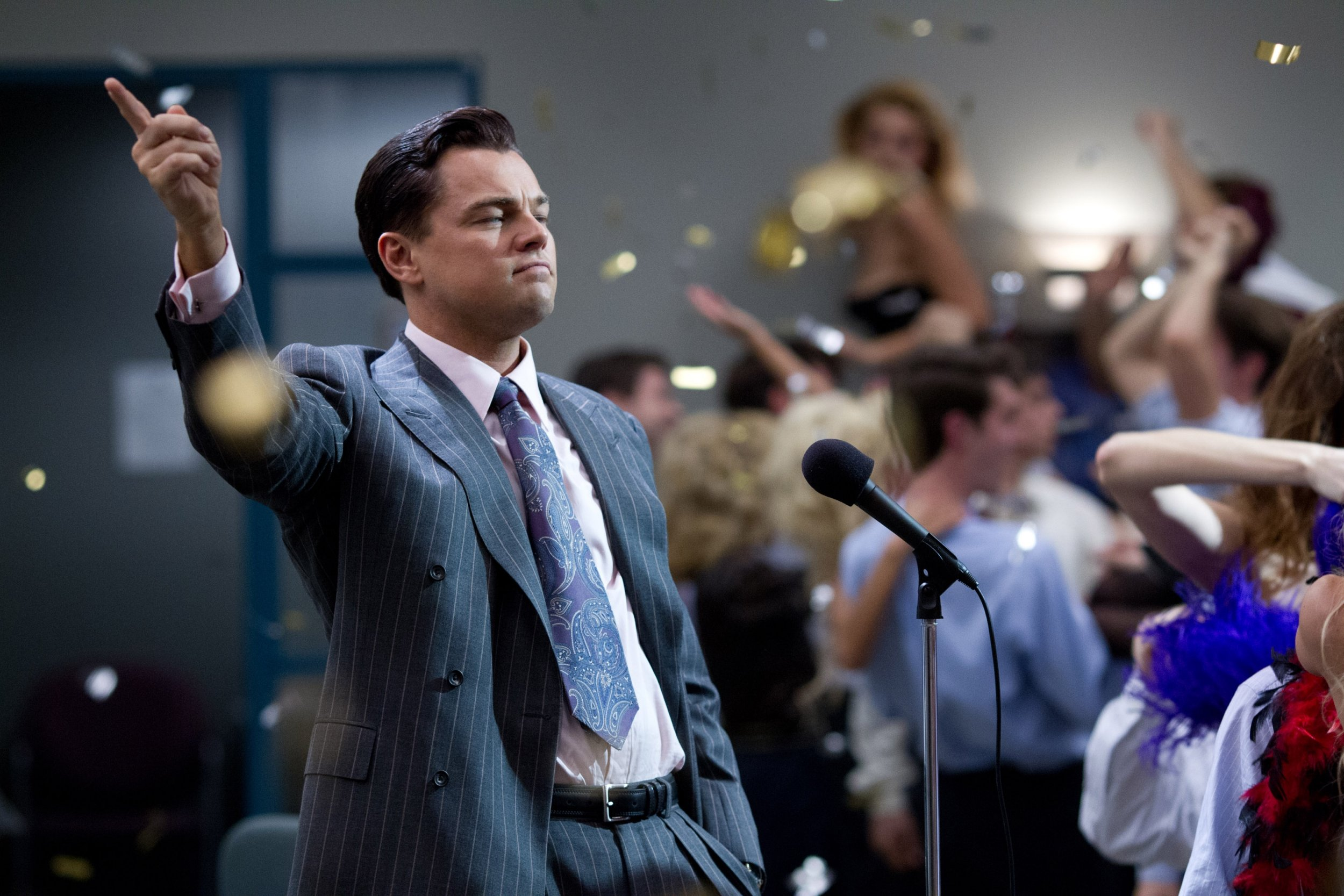 Film: The Wolf Of Wall Street (2013), starring Leonardo DiCaprio as Jordan Belfort.