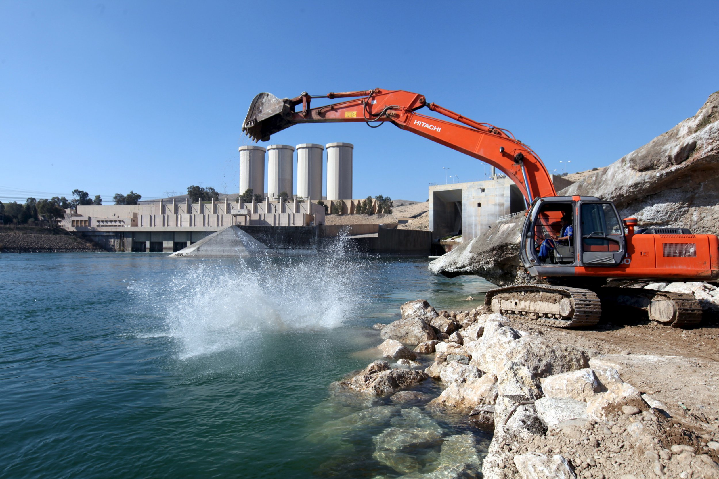 Massive dam at risk of catastrophic collapse could unleash 68ft of water