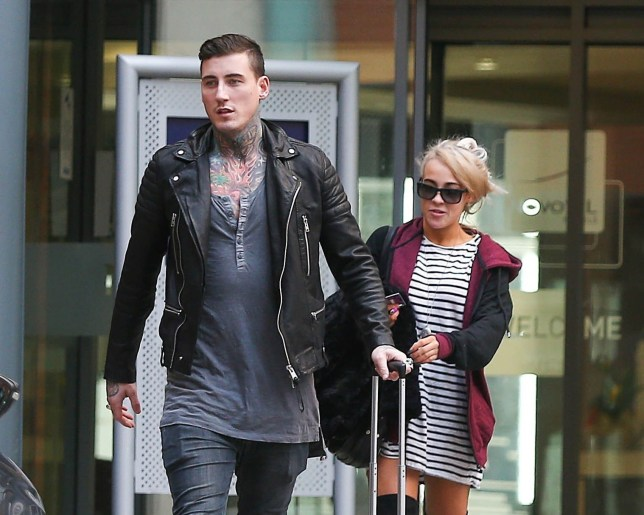 Picture Shows: Jeremy McConnell, Stephanie Davis February 23, 2016 'Celebrity Big Brother' housemates and couple Stephanie Davis and Jeremy McConnell spotted leaving their hotel in Leeds, England. Despite Jeremy confirming that the pair had split just two days ago, it appears as though the couple have reconciled. Non Exclusive WORLDWIDE RIGHTS Pictures by : FameFlynet UK © 2016 Tel : +44 (0)20 3551 5049 Email : info@fameflynet.uk.com