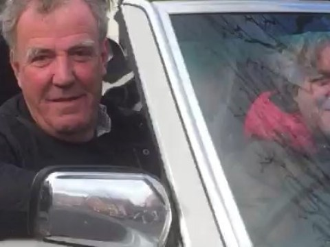 Jeremy Clarkson caught on camera in souped-up Mercedes as he films scenes for new show
