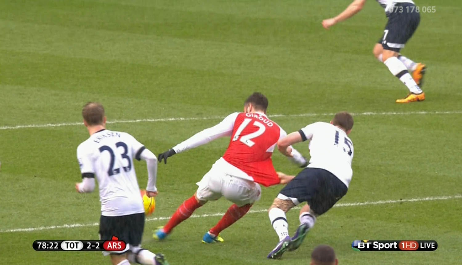Picture proves Michael Oliver should have sent off Eric Dier during Tottenham v Arsenal