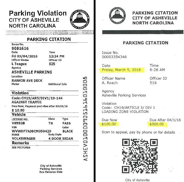 rickrolling with parking tickets Ashville