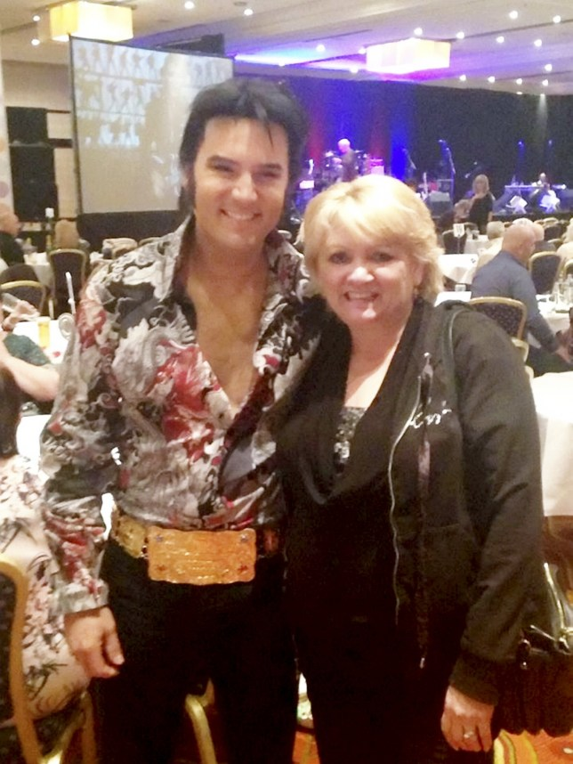 Facebook picture of Jackie Abbott with Elvis tribute act Chris Connor. An argument that led to the murder of Jackie Abbott at the hands of her husband started in a row over tickets to see an Elvis tribute band. See NTI story NTIELVIS. Paul Abbott, 56, today, March 7, 2016, admitted the murder of his wife, 54, who died in a hammer attack at their home in Netherton last December. It is believed that the attack at the couple's home on Lodge Crescent, Netherton, started after a row over tickets to see an Elvis tribute band.