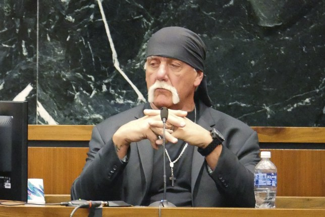 """Terry Bollea, known as professional wrestler Hulk Hogan, testifies in his case against the news website Gawker in St. Petersburg, Florida March 7, 2016. Hulk Hogan told a Florida jury on Monday he was """"completely humiliated"""" by a secretly recorded sex tape published online by Gawker, as he seeks $100 million in damages from the website in a case testing celebrity privacy rights and freedom of the press in the digital age. REUTERS/Boyzell Hosey/Pool TPX IMAGES OF THE DAY"""