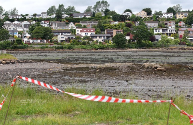 A general view of houses overlooking Dalgety Bay beach in Fife as former prime minister Gordon Brown has called on the Ministry of Defence to fund the clean-up of the beach polluted by radiation after a report by an environmental agency named the Government department as responsible.