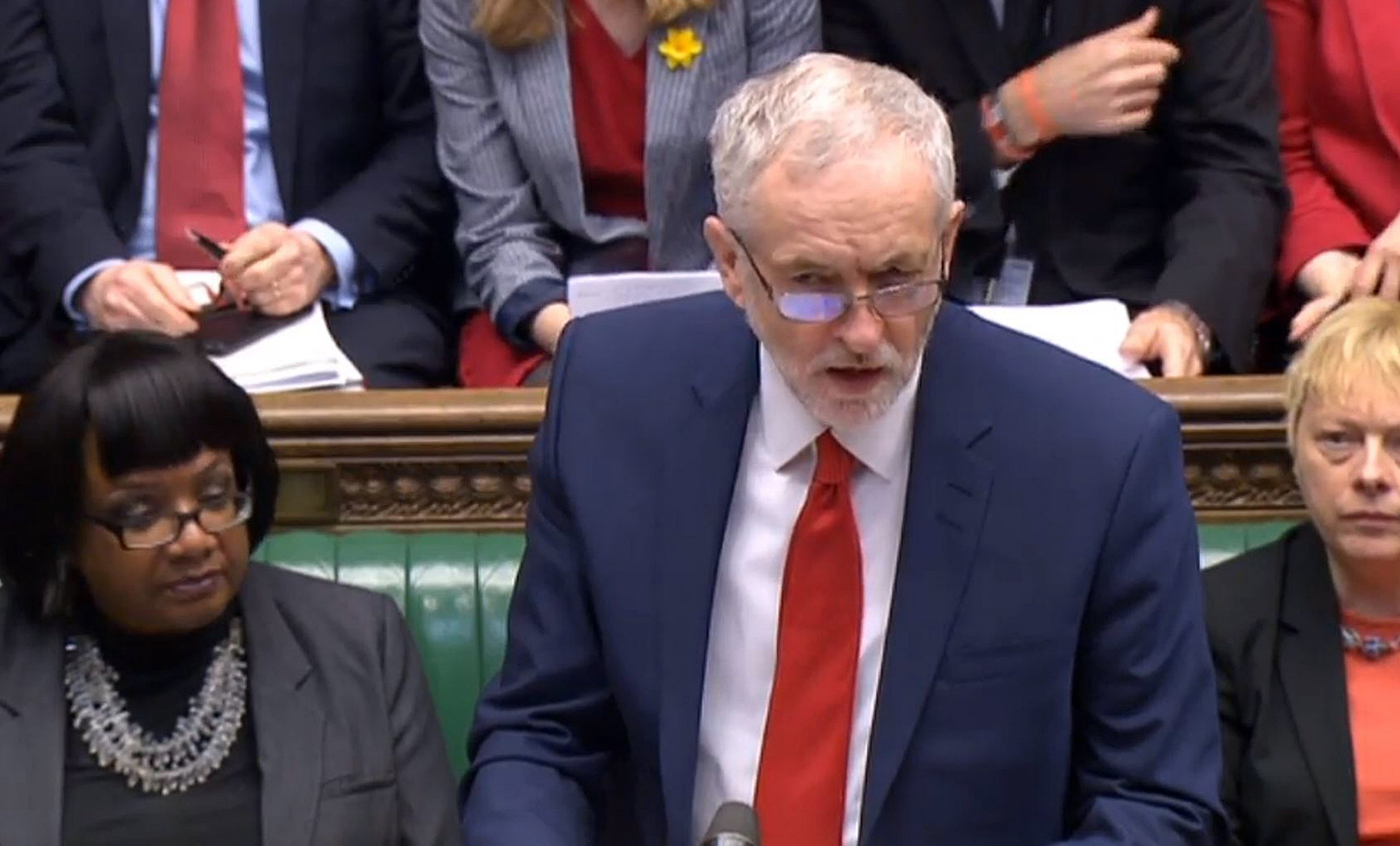 Labour party leader Jeremy Corbyn speaks during Prime Minister's Questions in the House of Commons, London. PRESS ASSOCIATION Photo. Picture date: Wednesday March 16, 2016. See PA story POLITICS PMQs Corbyn. Photo credit should read: PA Wire
