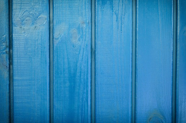 EXXF7C Background made of blue painted boards