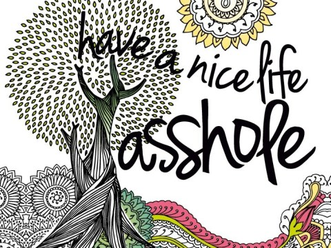 New adult colouring book will help you get over the arseholes in your life