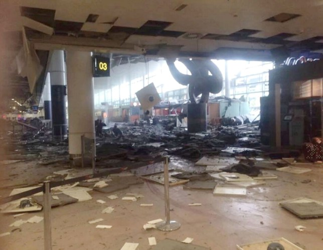 21.march.2016 - Brussels - Belgium *WARNING GRAPHIC CONTENT* Two explosions have been reported at Zaventem airport in Brussels. The cause of the explosions is unknown butøreports say the blasts were in the departures area. øThe blasts come four days after the capture in Brussels of Salah Abdeslam, the main suspect in the Paris attacks in November. BYLINE MUST READ : SUPPLIED BY XPOSUREPHOTOS.COM *XPOSURE PHOTOS DOES NOT CLAIM ANY COPYRIGHT OR LICENSE IN THE ATTACHED MATERIAL. ANY DOWNLOADING FEES CHARGED BY XPOSURE ARE FOR XPOSURE'S SERVICES ONLY, AND DO NOT, NOR ARE THEY INTENDED TO, CONVEY TO THE USER ANY COPYRIGHT OR LICENSE IN THE MATERIAL. BY PUBLISHING THIS MATERIAL , THE USER EXPRESSLY AGREES TO INDEMNIFY AND TO HOLD XPOSURE HARMLESS FROM ANY CLAIMS, DEMANDS, OR CAUSES OF ACTION ARISING OUT OF OR CONNECTED IN ANY WAY WITH USER'S PUBLICATION OF THE MATERIAL* ***UK CLIENTS - PICTURES CONTAINING CHILDREN PLEASE PIXELATE FACE PRIOR TO PUBLICATION *** **UK CLIENTS MUST CALL PRIOR TO TV OR ONLINE USAGE PLEASE TELEPHONE 44 208 344 2007 ***