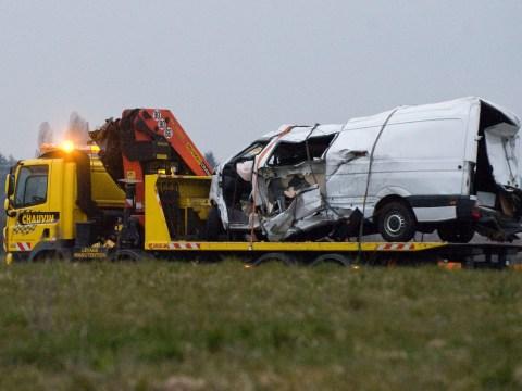 Twelve dead after minibus crash in France