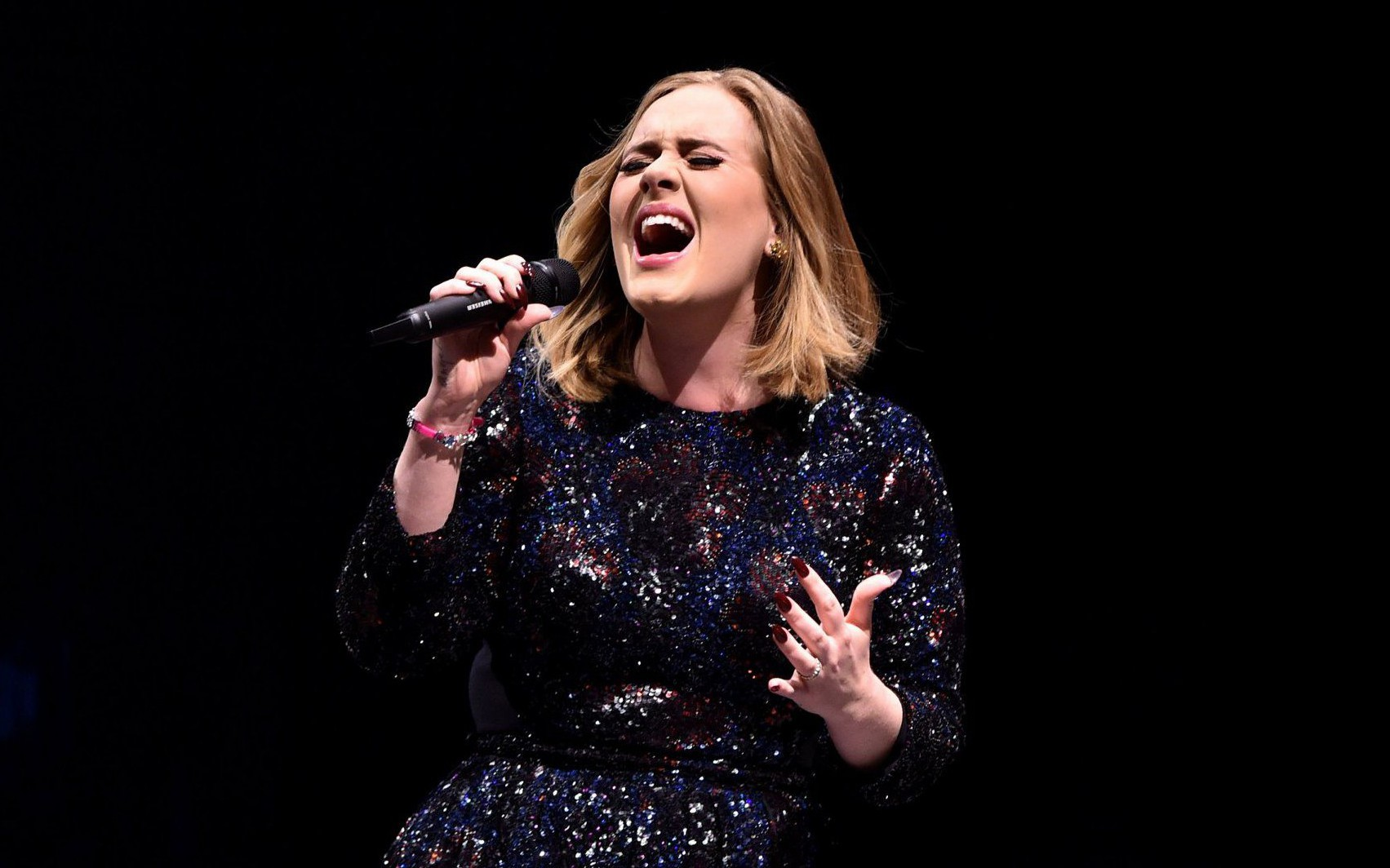 GLASGOW, SCOTLAND - MARCH 25: Adele performs at The SSE Hydro on March 25, 2016 in Glasgow, Scotland. (Photo by Gareth Cattermole/Getty Images)