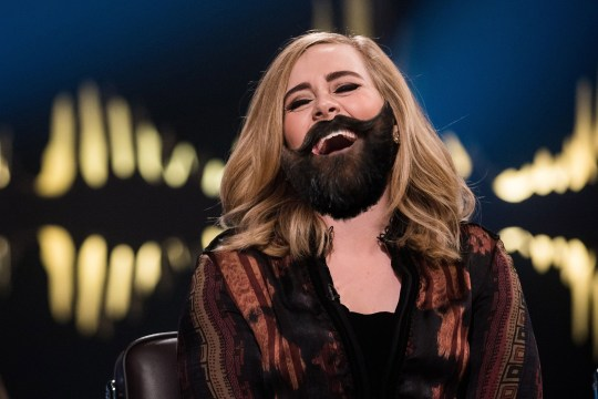 Adele has a beard called 'Larry'