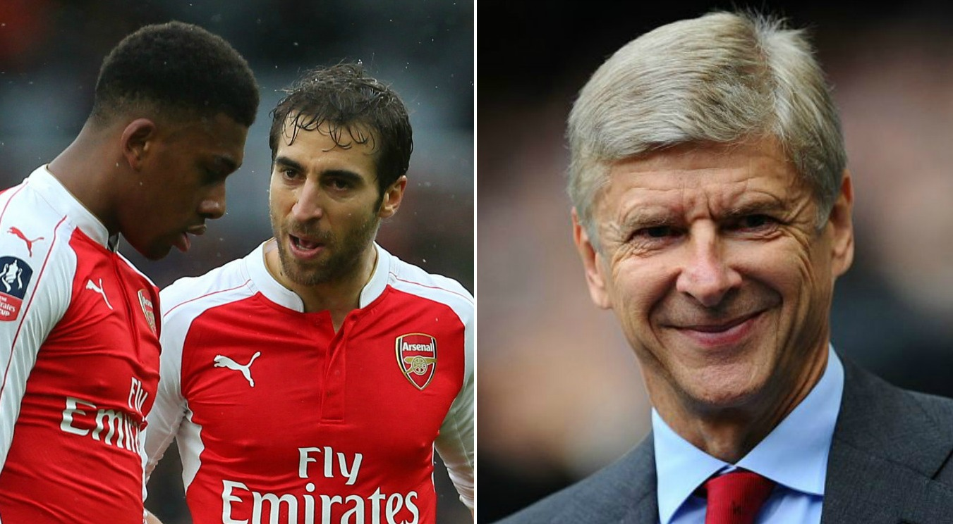 Arsenal fans accuse Arsene Wenger of trolling them as he starts Alex Iwobi and Mathieu Flamini versus Barcelona