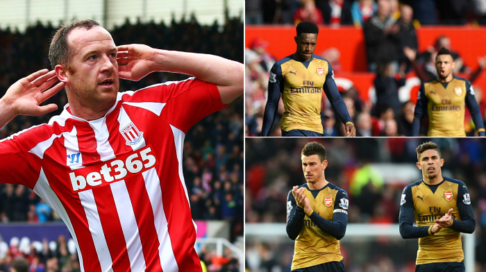 Arsenal players are silent on the pitch and scared to criticise one another, claims Stoke City ace Charlie Adam