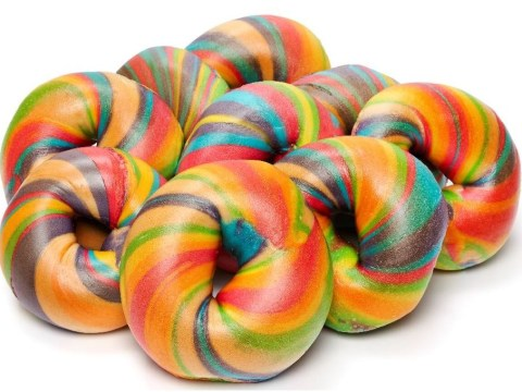 Rainbow bagels dyed in six dreamy colours launch in Selfridges (but you can also get them for 50p at the Brick Lane Beigel Shop)