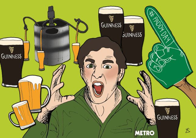 10 things Irish people are sick of hearing on St Patrick's Day (Ross McG) BeerInHere_Illustration_Liberty-Antonia-Sadler_Metro