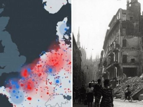 Animation shows Allied bombing campaign that defeated Nazis