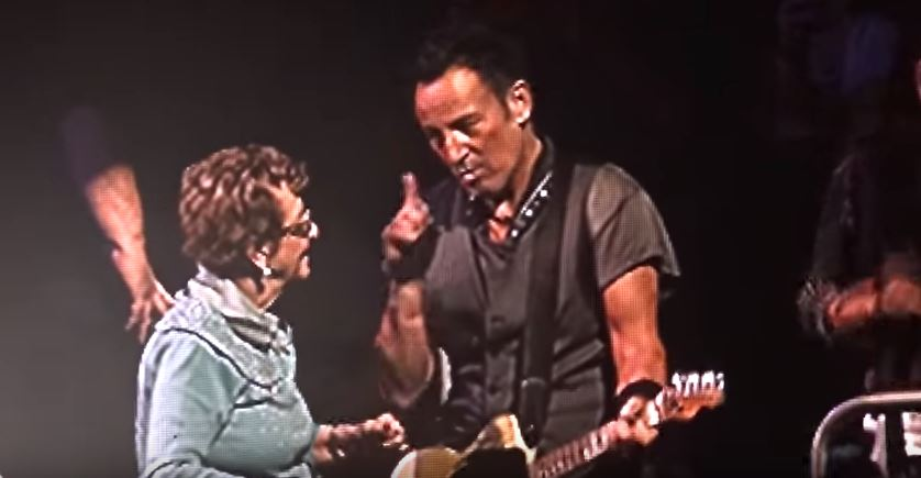 WATCH: Bruce Springsteen booty shakes on stage with his 90-year-old Mum