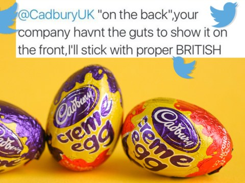 People are upset Cadbury eggs don't have the word Easter on the front