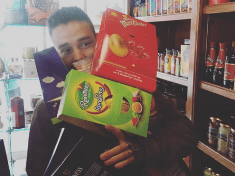 Cheryl shares a cute pic of boyfriend Liam Payne struggling to carry a pile of Easter eggs