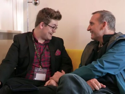 Watch: Autistic Doctor Who fan reduces Christopher Eccleston to tears during interview