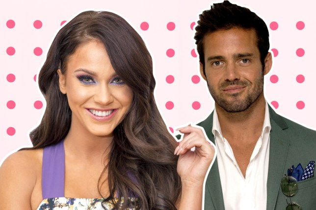 Over: Spencer Matthews and Vicky Pattison are now just friends (Picture: Rex)