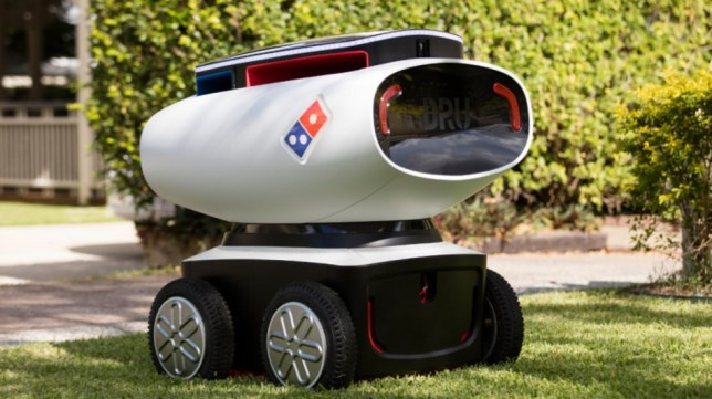 domino's trialling pizza delivery robot