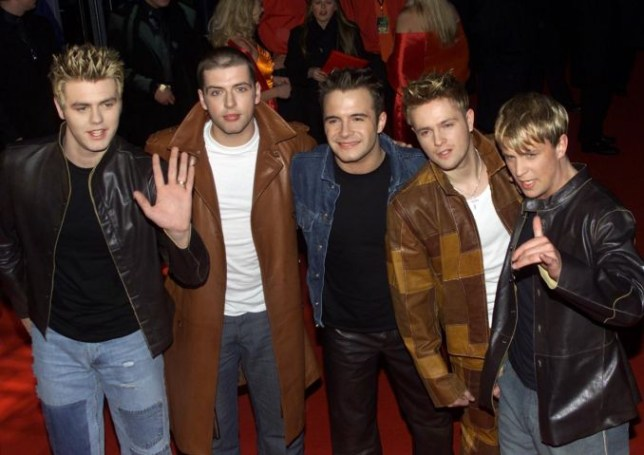 THE BRITS 2001 POP MUSIC AWARDS AT EARLS COURT, LONDON: WESTLIFE ARRIVE