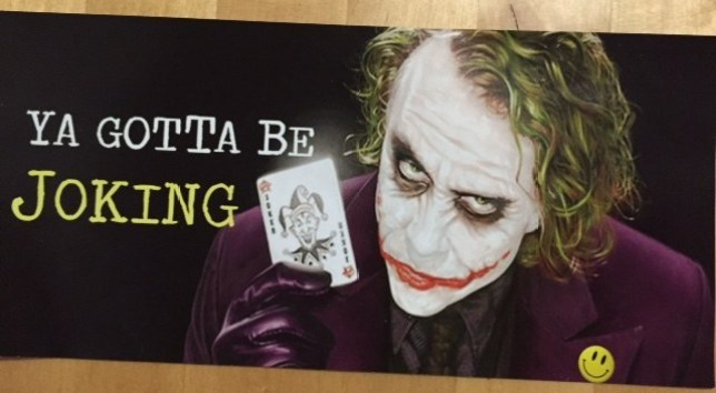 "Someone is Making Anti-Gay Flyers Featuring The Joker From ""Batman"" Picture: No credit"