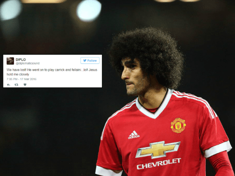 Manchester United fans concede defeat to Liverpool after Marouane Fellaini's picked to start