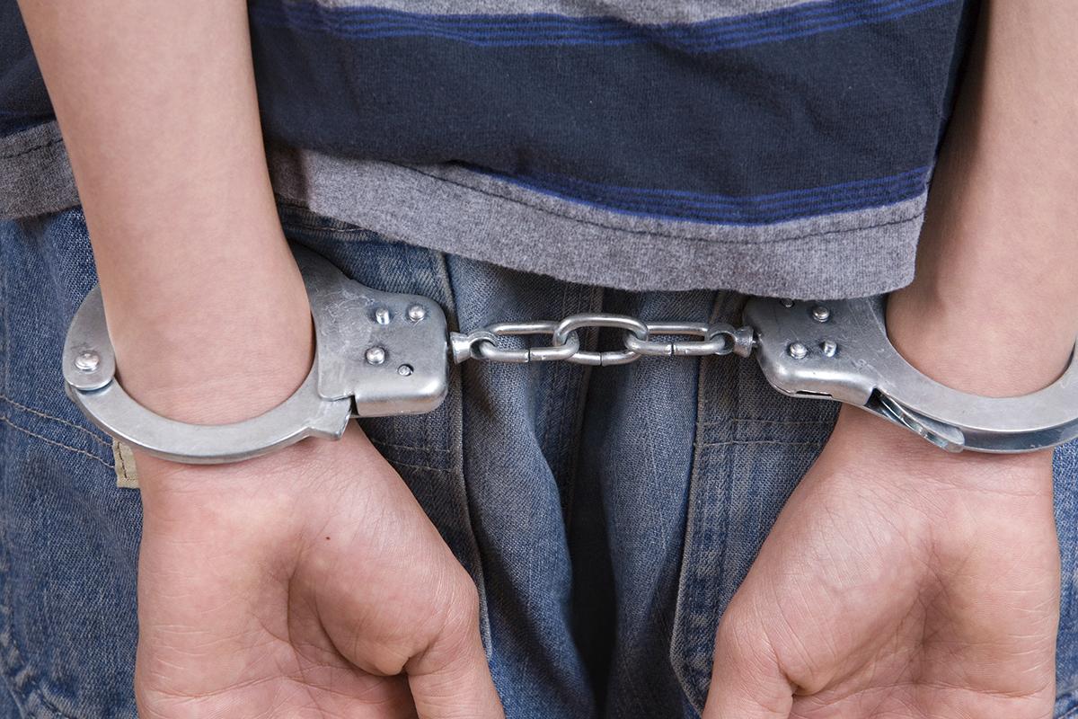 Child handcuffs Getty