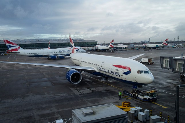 LONDON, ENGLAND- FEBRUARY 19: British Airways planes move in and out of Heathrow International Airport February 19, 2014 in London, England. (Photo by Robert Nickelsberg/Getty Images)