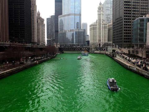 St Patrick's Day 2016: Watch river turn green for the Irish