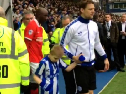 Boy, 10, told he'd never walk defies doctors by walking out favourite team Sheffield Wednesday for match