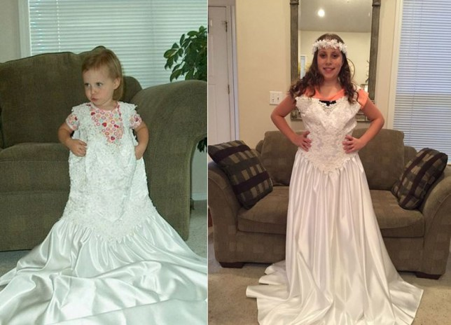 From the age of two, to today, aged 12 (Picture: Brandy Yearous)