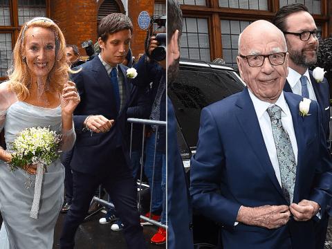Rupert Murdoch and Jerry Hall celebrate wedding in Fleet Street