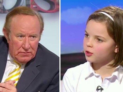 'Maybe you weren't educated properly': Girl, 10, schools Andrew Neil about nanny state